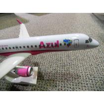 Maquete De Avião Comercial Embraer 190 Azul - Rosa