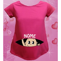 Camiseta Bebê Espião - Gestante - Grávida