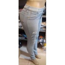 Calça Jeans Feminina Moda Destroyed Rasgada Promoção