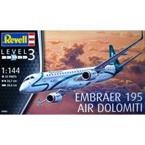 Avião Embraer Erj 195 Air Dolomiti 1/144 Revell P/ Montar