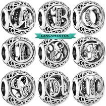 Charm Prata 925 Pandora Vivara Letras A Escolher