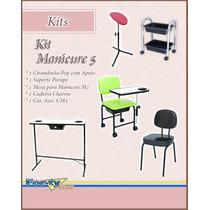 Kit Manicure 5 - Cir. Pop + Suporte + Mesa + Cadeira + Cm2