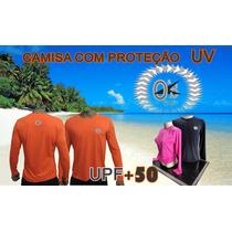 Camisa Com Proteção Solar Fps 50+ Uv Segunda Pele O&s