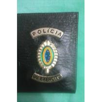Carteira (porta Notas) Couro Polícia Do Exército ( E B)