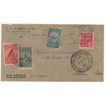 17294 Carta Circulada Via Condor De Rs Para Ba Em 1932