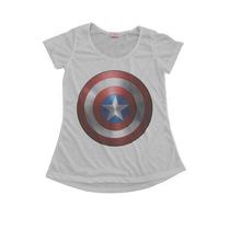 Blusinha Camiseta T-shirt Feminina Capitão América