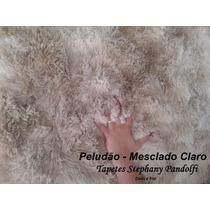 Tapete Mesclado 3,00 X 2,00 Peludo Felpudo Sala Shaggy Luxo