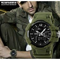 Relógio Sport Militar Skmei Analógico Digital Black Forças