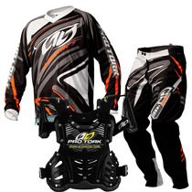 Kit Motocross Pro Tork Infantil Insane 3 Laranja Kids