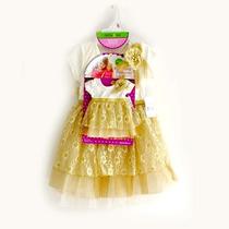 Conjunto De Vestidos Gold Para A Menina E Para A Boneca