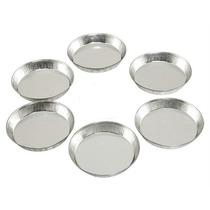 Fôrmas Lisas De Alumínio Para Tortinhas - 6 Unidades