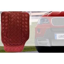 Jogo De Tapetes Automotivos Carro Cromados Vermelho 5 Peças