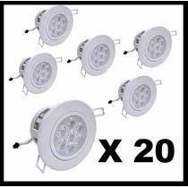 Kit Spot 7w Super Led Direcionável Alumínio ((20 Unidades))