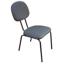 Cadeira Fixa Estofada S/ Braços Revestida Em Tecido Usada