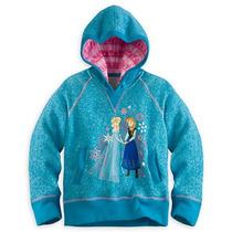 Disney Store- Moletom Casaco Frozen Elsa E Anna