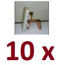 Kit 10 Suportes 3/4° Polegada Com Regulagem Para Nanostation