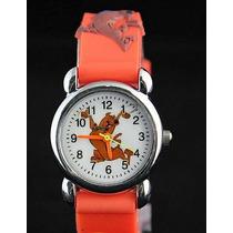 Relógio Scooby-doo Infantil Criança Pulseira 3d