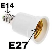 Adaptador Rosca E14 Para E27 ( Externo E14 / Interno E27)
