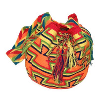 Bolsa Wayuu Fogo - Feita Na Colômbia