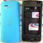 Frete Grátis! Gabinete Carcaça Nokia 500 Azul Chassi Complet