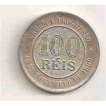 Ml-2538 Moeda Brasil (100 Réis) 1893 V-037