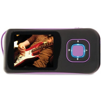 Mp4 Player Dazz 4gb Preto/roxo - Preto/cinza