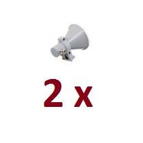 Kit 2 Corneta Antena Offset 5.8ghz Dupla Polarização Aquário