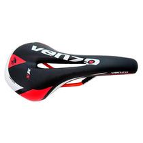 Banco Selim Venzo Mx Professional Mtb Vermelho Bicicleta