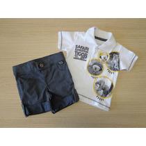 Conjunto Tigor T Tigre Baby Polo E Short Jeans Pb/1p