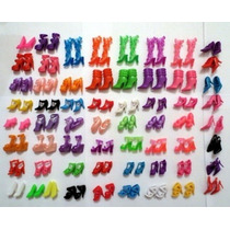 Kit Com 10 Sapatos Para Barbie