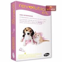 Revolution 6% Antipulgas Cães E Gatos Até 2,5kg - 1 Ampola
