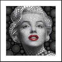 Quadro 3d Marilyn Monroe Moldura Alumínio - Frete Grátis