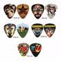 Kit Com 5 Palhetas Personalizadas Hoot Rock - Frete Grátis