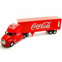 Caminhão Carreta Bau Kenworth T700 Coca Cola Mini Esc 1/32