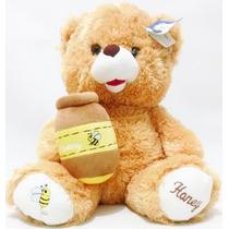 Urso De Pelúcia Grande Pote De Mel Bebê Criança Presente