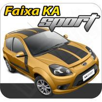 Adesivo Kit Faixa Ford Ka Sport 08 + Brinde - Qualidade 100%