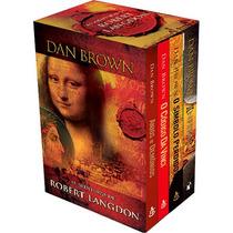 Box Livros Aventura Robert Langdon Dan Brown Codigo Da Vinci