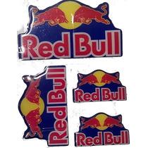 Kit Adesivos Resinados Red Bull Cartela C/ 4 Adesivos