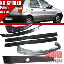 Kit Spoiler Palio 96 Á 99 4 Portas Dianteiro + Lateral Com T