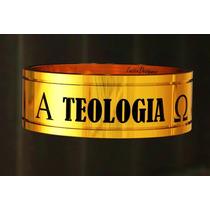 Anel Teologia C Símbolos E Pedra; Prata C Banho De Ouro