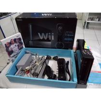 Nintendo Wii Preto Black Piano Na Caixa = Jogo Brinde Fifa