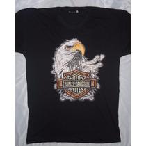 Camisa Blusa Customizada Harley Davidson Imposing Eagle