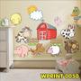 Adesivo Decorativo Fazendinha Quarto Infanti Animais Wpt050
