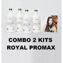 Combo 2 Escovas Progressiva Royal Promax Frete Gratis