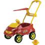 Carrinho Passeio Para Bebê Baby Car Vermelho Homeplay 028543