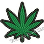 Patch Bordado Marijuana Cannabis Maconha Tam. 7,5x8cm Ban474