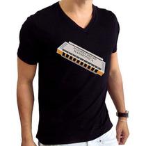 Camiseta Gospel Blues Bordado Computadorizado Hering Gola V