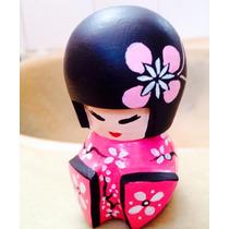 Gueixa Boneca Decoraçãojaponesa Kokeshi Pronta Entrega