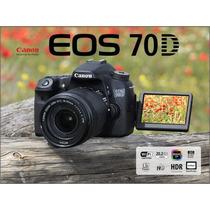 Câmera Canon 70d Wifi +18-55 Stm + Brinde Bolsa E Mini Tripé