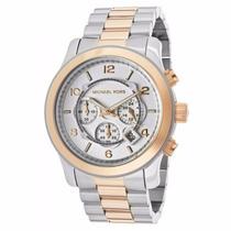 Lindo Relógio Michael Kors Mk8176 Prata Dourado Com Caixa